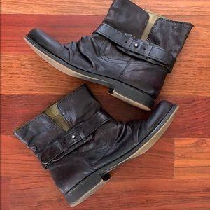 Nine West Vintage America Leather Ankle Boots